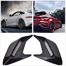 2PCS DIY Shark fins Car Body Side Air Flow Vent Grille Decorative Stickers Kits