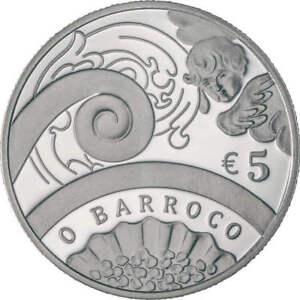 Ek // 5 Euro Argent BE Portugal 2018 Barroco