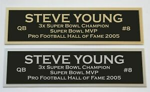 Steve Young nameplate for signed jersey football helmet or photo