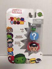 Marvel Tsum Tsum 3 Pack Series 2 Figures Dr. Strange 160 Hulk 207 Hidden NEW