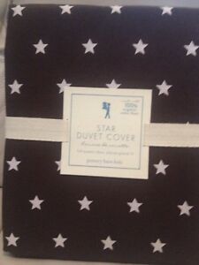 Pottery barn KIDS STAR DUVET COVER BROWN COLOR-NWT Full/Queen F Q