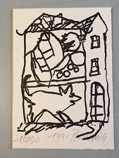 jean pierre pincemin gravure lithographie art signé 1991 support surface