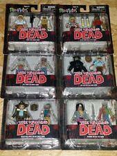 MINIMATES Walking Dead LOT of 6 Exclusive Action Figure 2 packs DIAMOND SELECT