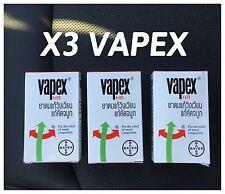 3 VAPEX HR Nasal Inhaler Inhalant Relief of Vertigo Nasal Congestion Headache >