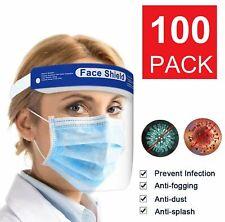 2/10/20/50/100pcs Safety Full Face Shield Reusable FaceShield Clear Anti-Splash
