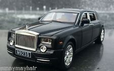 2004 BMW Black Rolls-Royce Phantom 1/24 Static Miniature Diecast  Super Car Toy