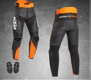 New KTM Motorcycle leather Trousers Men Motorbike Pants Racing Sports Bikers CE
