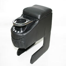 Universal Black Padded Armrest Centre Console Cup Holder