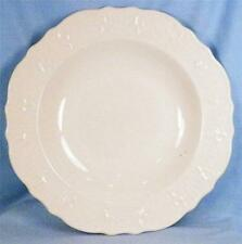 American Traditional Soup Bowl Canonsburg Pottery Cream Color Embossed Vintage