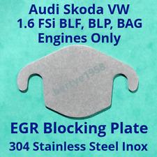 EGR Valve Block Plate VW Skoda Audi 1.6 FSi engine codes BLF, BLP, BAG only