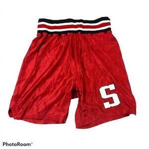 Vintage Santiam High School Basketball Shorts Mill City Oregon Size 34 Red