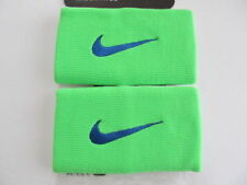 Nike Tennis Premier Half & Half Doublewide Wristbands Green Strike Men Women's