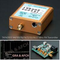 FM Transmitter 144 MHz 100 76 74 72 50 36 27 MHz TAFM2833 Low Spurs 0dBm