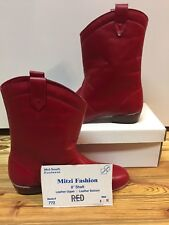 Red, Square Dance Boots/shoes Size 6 M, Mitzi Fashion
