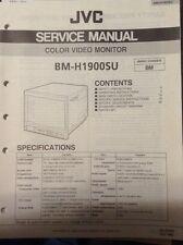 JVC Original service manual for BM-H1900SU COLOR VIDEO MONITOR