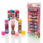 LOL Surprise Dolls 8 Pack Fruit Flavoured Scented Lip Balm Girls Cosmetic Set