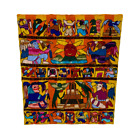 Guatemalan Mayan Heavily Embroidered  Hand Stitched Colourful Wall Hanging Story
