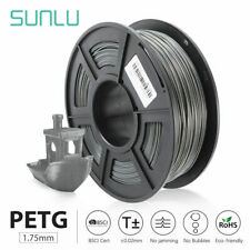 SUNLU 3D Printer Filament PETG Gray 1.75mm 1kg/2.2LB Good toughness Supplies