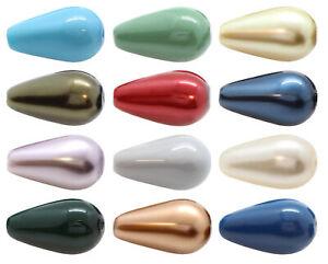 Genuine PRECIOSA 131 50 011 Pear Nacre Pearls Full Drilled * Many Colors & Sizes
