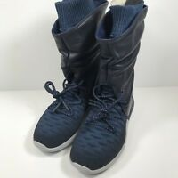 c0710e2be278  225 New Womens Nike Roshe Two Flyknit Hi Leather Boots Size 6 Blue 861708  400
