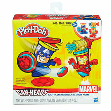 Play-Doh Marvel Can-Heads Featuring Iron Man And Captain America - BRAND NEW