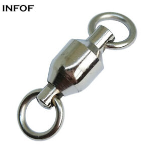 Fishing Ball Bearing Swivel With Solid Rings Stainless Fishing Swivels Saltwater