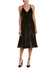 REBECCA TAYLOR Floral Velvet Slip Dress 100%25 Exclusive Black 517991D624 RV$450