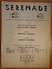 """VINTAGE 1925 PIANO SHEET MUSIC: """"SERENADE"""" FROM """"THE STUDENT PRINCE"""" BY ROMBERG"""