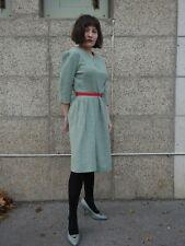 Kleid S M Winterkleid 40er Puffärmel Rockabilly TRUE VINTAGE wool dress 40s