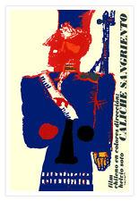 """Decor Graphic Design movie Poster""""Caliche Sangriento""""Chile Art Political film"""