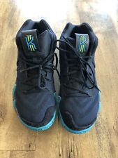 Nike Men's 11.5 Kyrie 4 Dark Obsidian Black Blue Basketball Sneakers