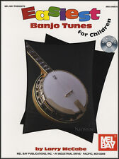 Easiest Banjo Tunes for Children 5-String TAB Music Book/CD