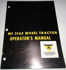 Massey Ferguson 3165 Tractor Owners Operators Instruction Book Manual MF