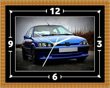 Peugeot 106 GTI Wall Clock Gift Present Christmas Birthday (Can Be Personalised)