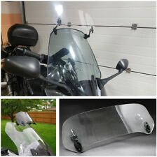 Heightening Motorcycle Adjustable Risen Acrylic Clear Windshield Double Hinges