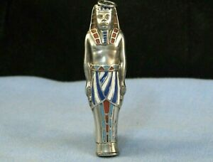 ANTIQUE SILVER & ENAMEL ART DECO EGYPTIAN REVIVAL MECHANICAL PENCIL TUTANKHAMUN