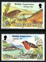 ISLE OF MAN MNH UMM STAMP SET 1980 CHRISTMAS WILDLIFE CONSERVATION SG 181-182
