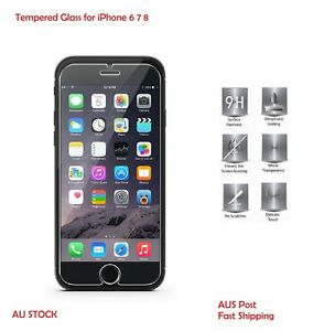 Premium Tempered Glass Genuine Screen Protector 9H Hardness For iPhone 8 7 6S 6