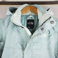 THE NORTH FACE Womens Size Small Hooded Baby Blue Ski Board Winter Coat Jacket