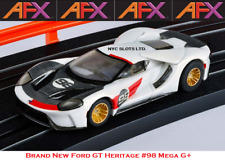 New AFX  Ford GT Heritage #98 Mega G+ Fits Auto World, HO Slot Car AFX 22044