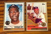 1999 Topps Hank AAron #44 and #237 - HOF