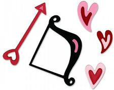 Sizzix Sizzlits 3 Dies - Cupid Bow & Arrow with Hearts Set - Love - Valentine's
