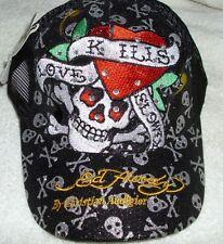 Ed Hardy Christian Audigier Love Kills Slowly Baseball Style Cap Hat Black NWT