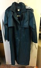 Brem Womans Teal Color Rain/Trench Coat- Removable Lining Size 12/14 #WJ-135