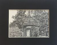 Old Powder House - Marblehead, MA - Vintage Art Print, Matted & Ready to Frame!