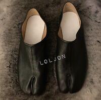 Maison Margiela Tabi Black Leather Loafer Mens EU Size 44, US 11