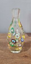 Vintage Murano Glass Murrine  Vase By Fratelli Toso