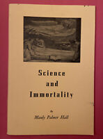 🔺1963 1st Science and Immortality Manly P. Hall Spirituality Occult Philosophy