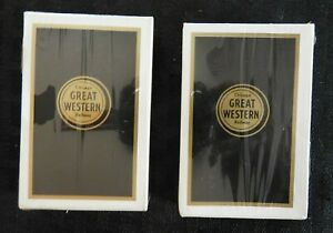 (2) 1940's CHICAGO GREAT WESTERN RAILWAY PLAYING CARDS NEAR MINT AND SEALED