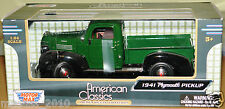 Motor Max 1:24 1941 Plymouth Pick Up